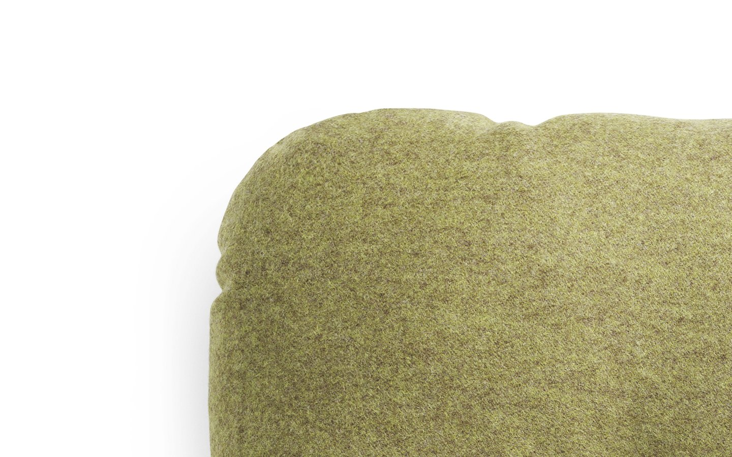 NC Hi Cushion Wool Green Detail
