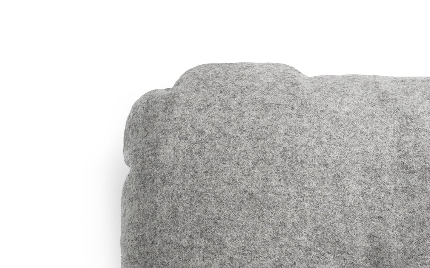 NC Hi Cushion Wool Grey Detail
