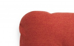 NC Hi Cushion Wool Red Detail