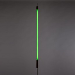 Neon Lamp Seletti Linea Green Interior