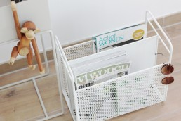 Normann Copenhagen Analog Magazin Rack White Modern Design Example