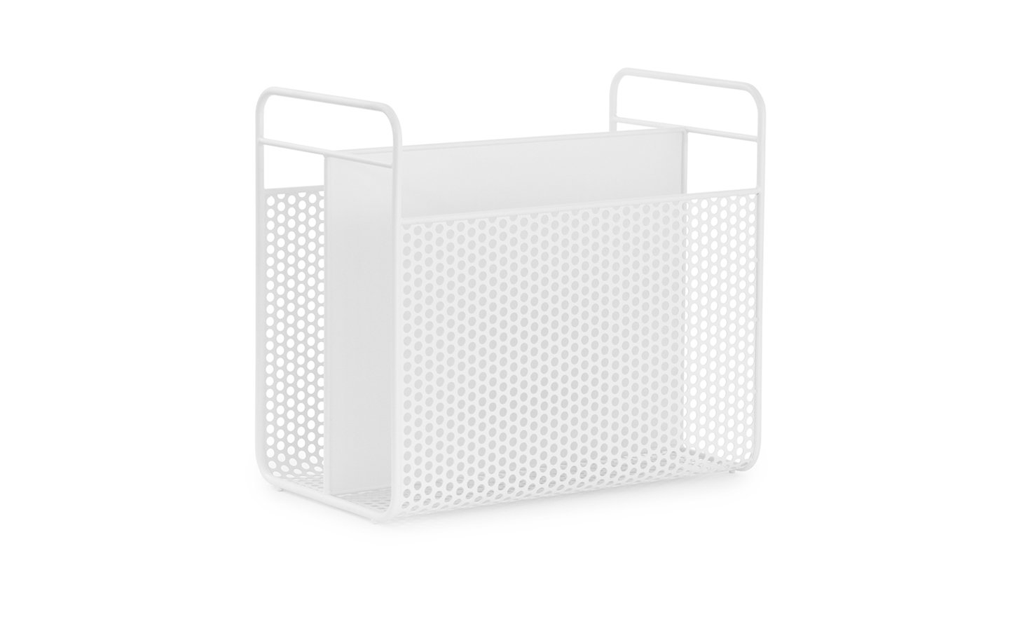 Normann Copenhagen Analog Magazin Rack White Racurs