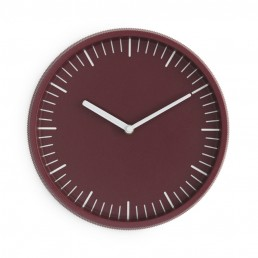 Normann Copenhagen Day Wall Clock Dark Red
