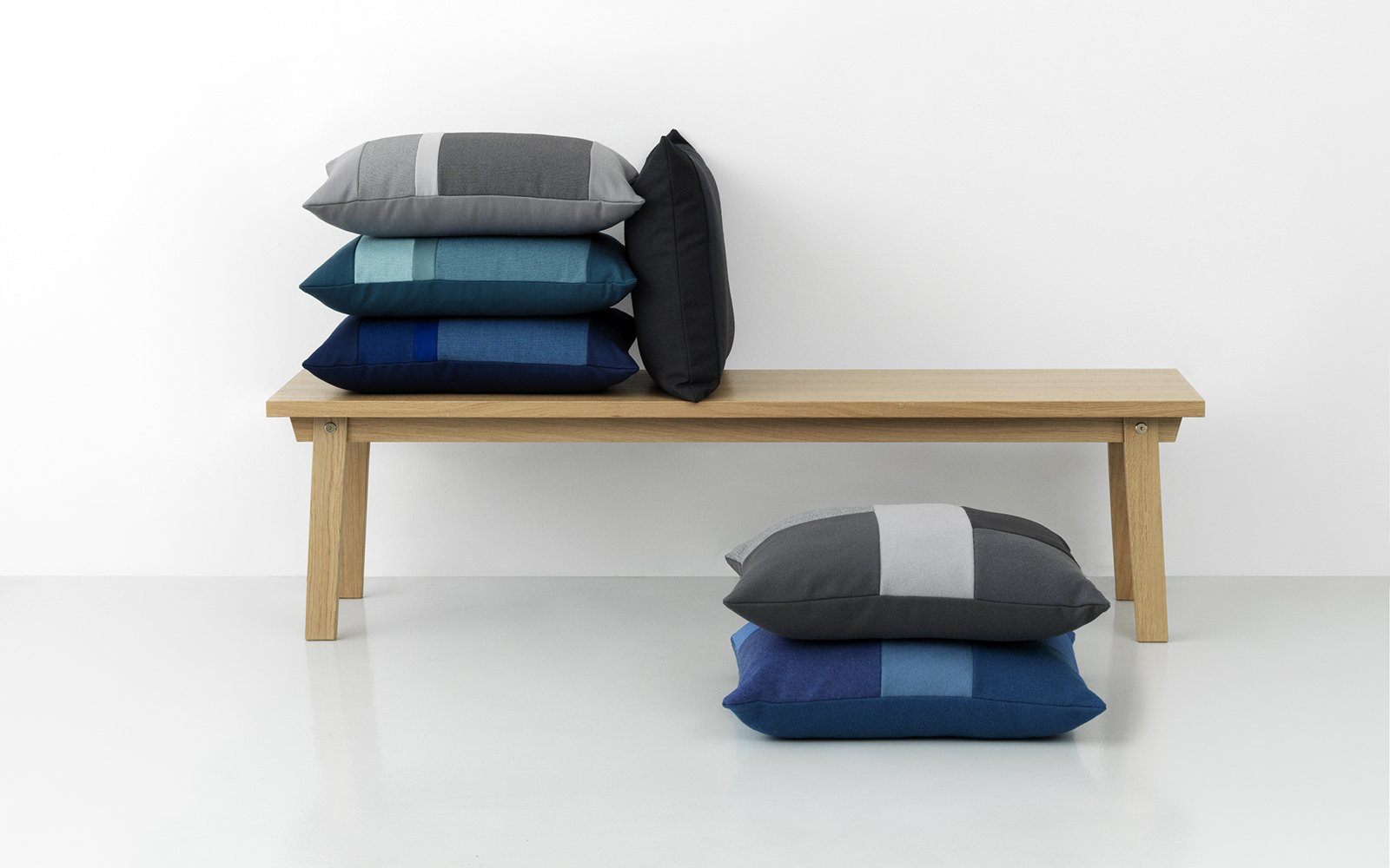 Normann Copenhagen Line Cushion Brick Cushion Slice Bench Group