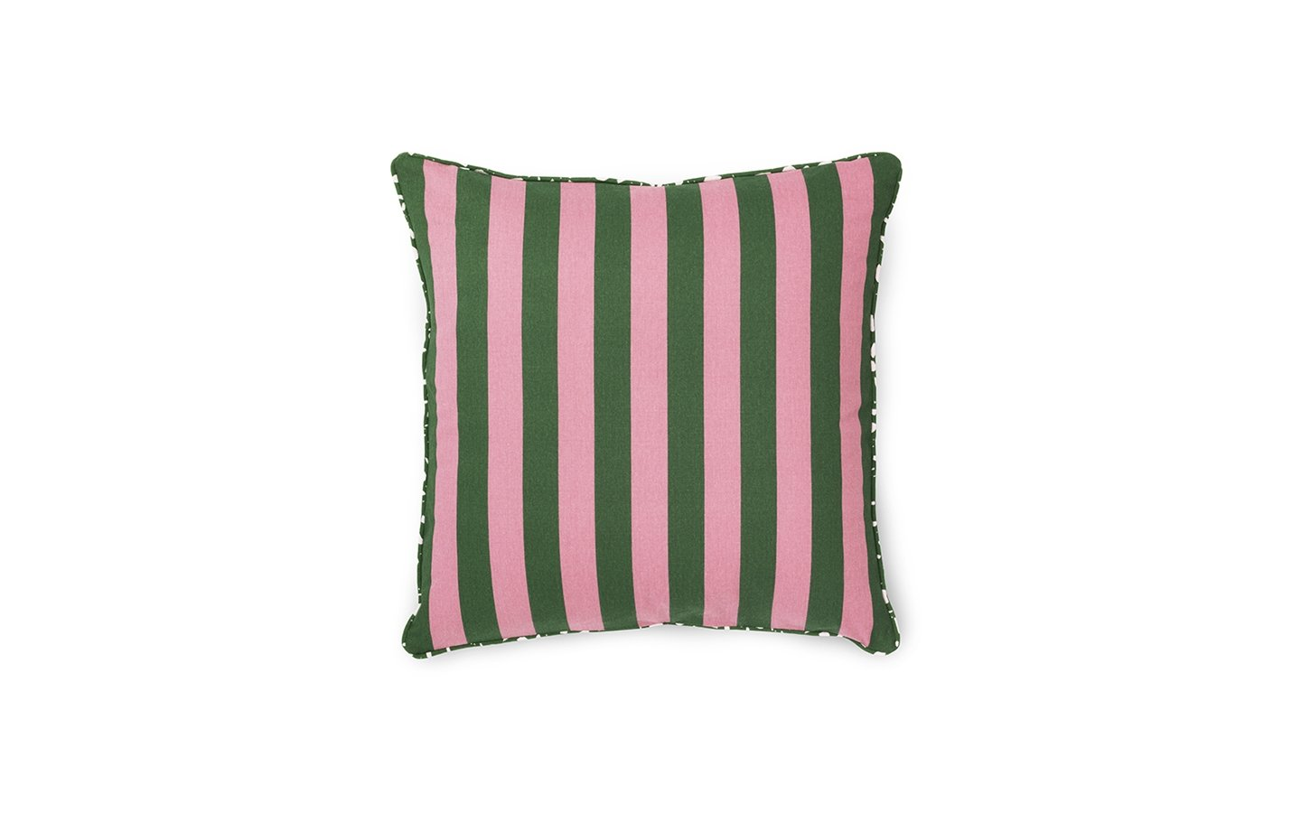 Normann Copenhagen Posh Cushion Keep It Simple Dark Rose Dark Green