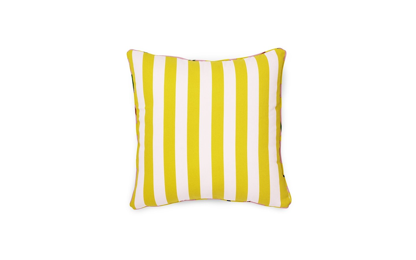 Normann Copenhagen Posh Cushion Keep It Simple Pale Rose Lemon Curry