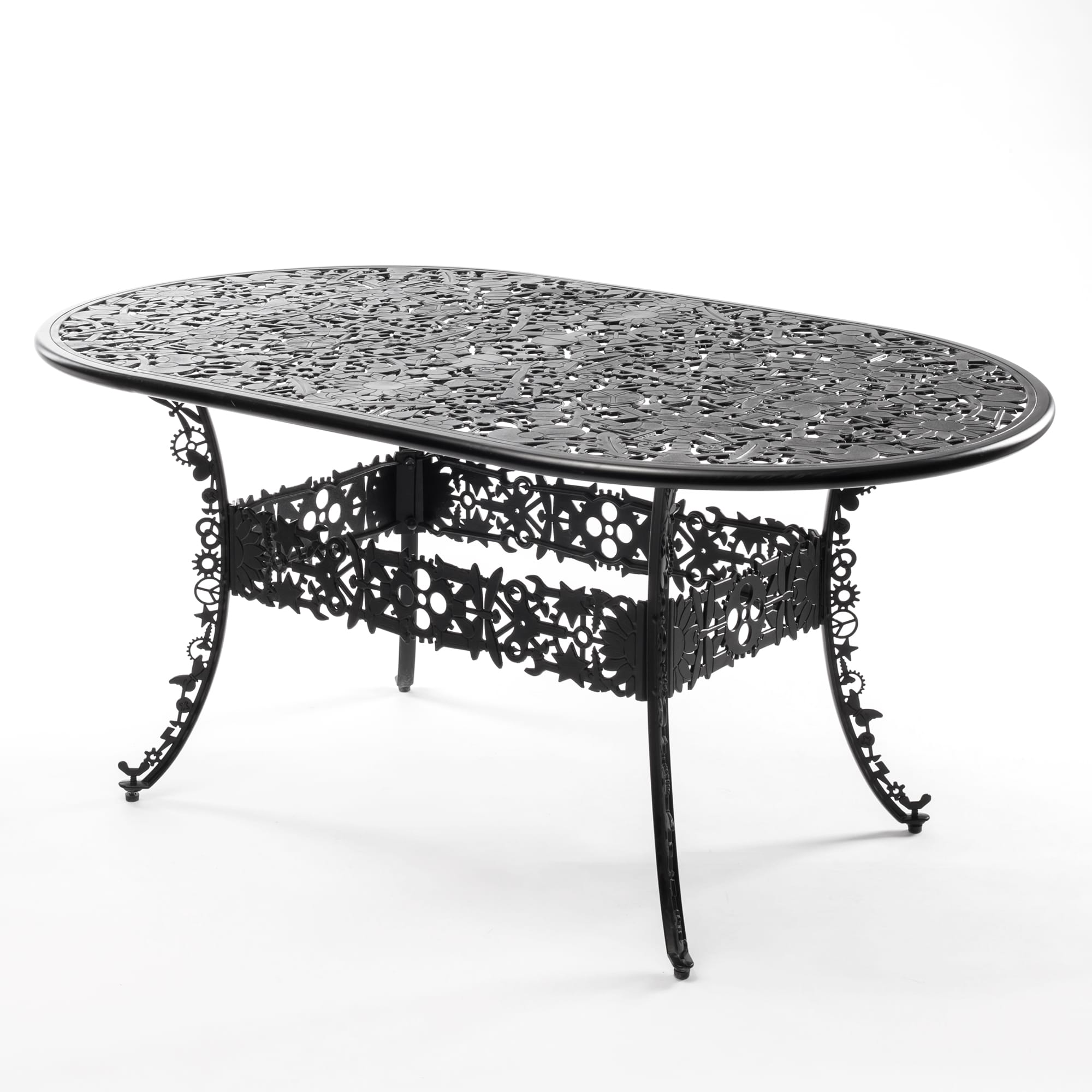 Oval Table Seletti Industry Collection Black Racurs