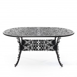Oval Table Seletti Industry Collection Black