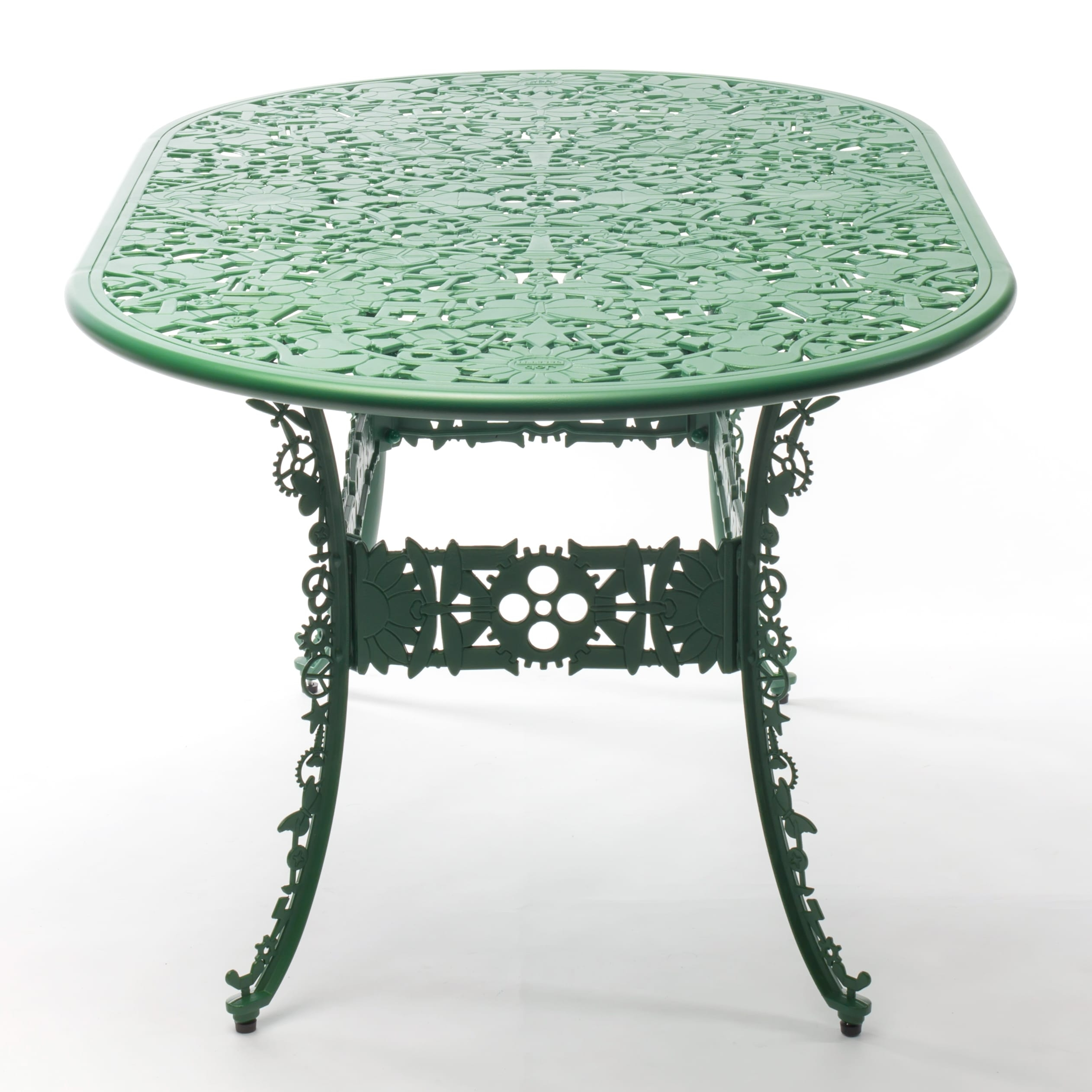 Oval Table Seletti Industry Collection Green Racurs