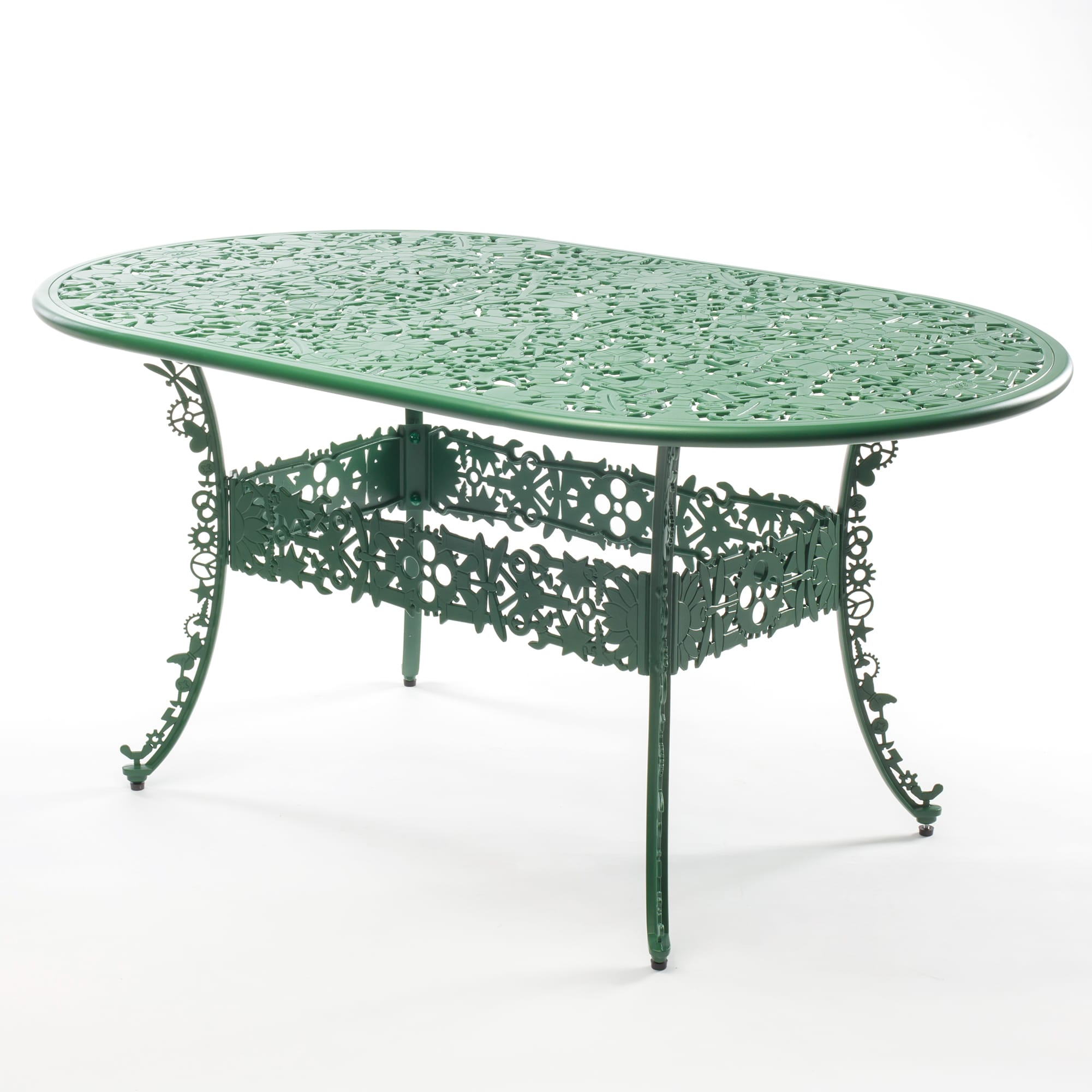 Oval Table Seletti Industry Collection Racurs Green