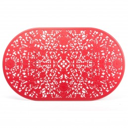 Oval Table Seletti Industry Collection Red Top