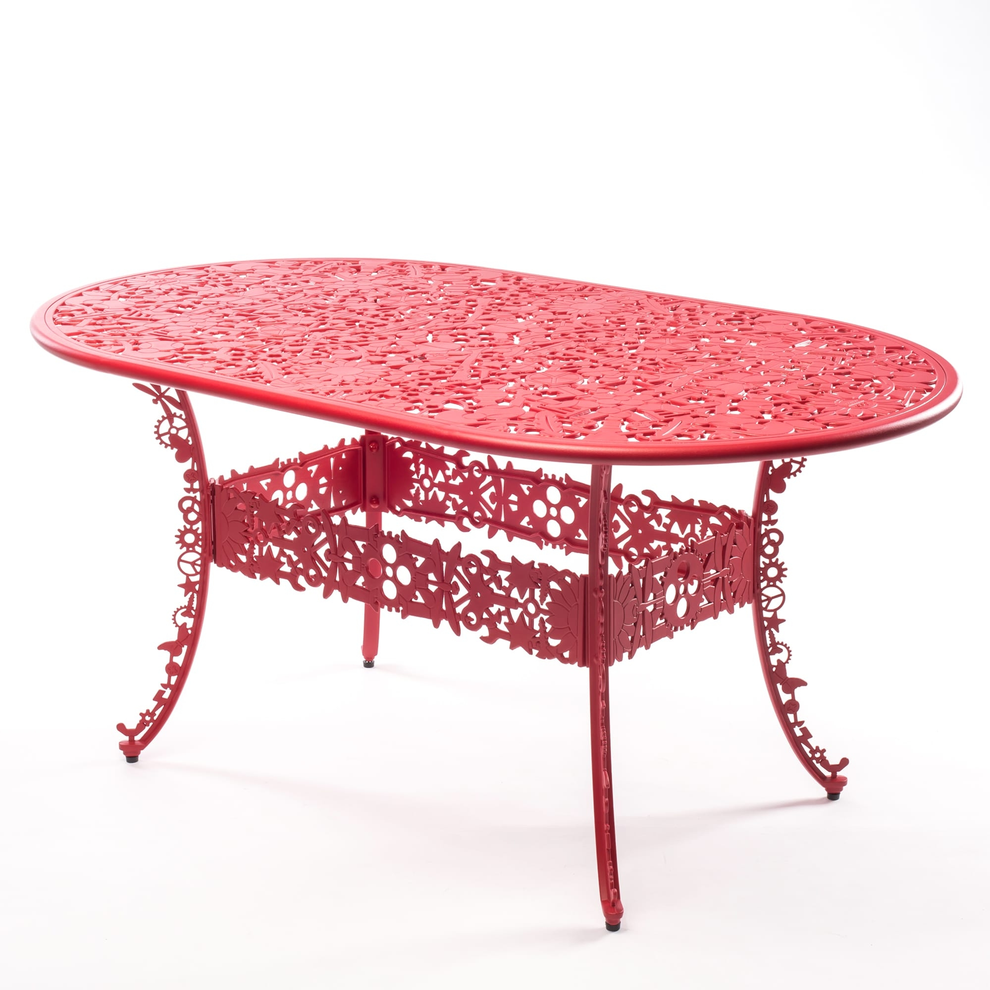 Oval Table Seletti Industry Collection Red racurs