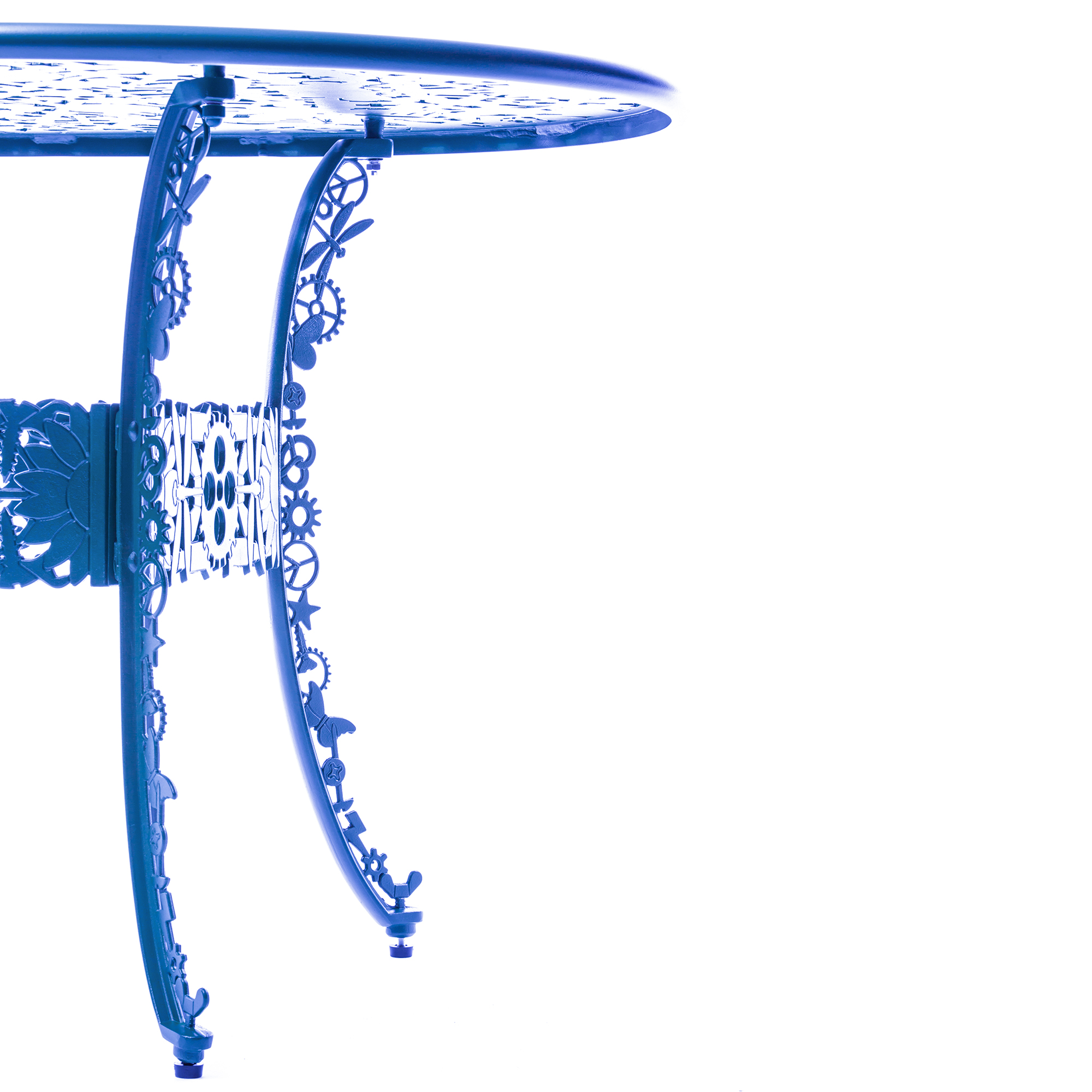 Oval Table Seletti Industry Collection Sky Blue Detail