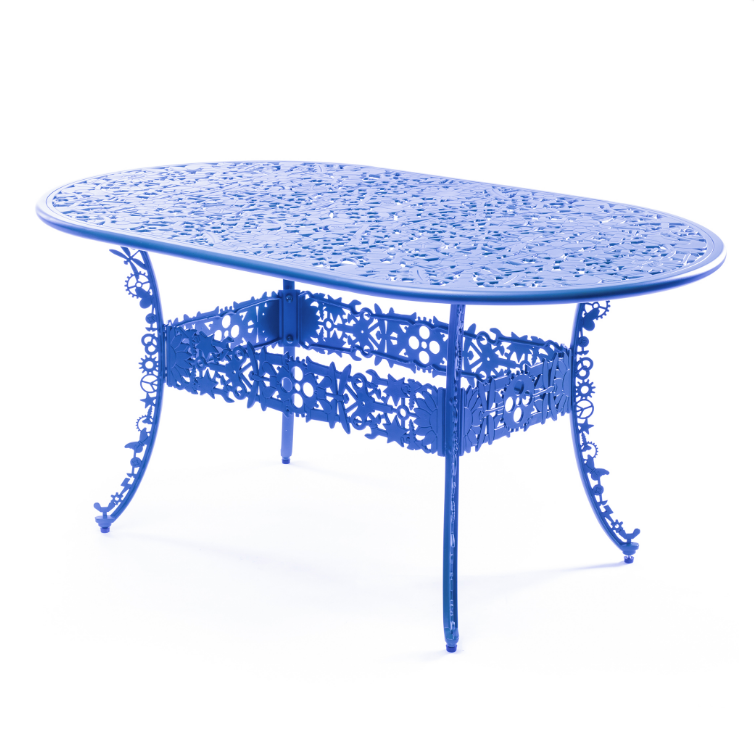 Oval Table Seletti Industry Collection Sky Blue Racurs