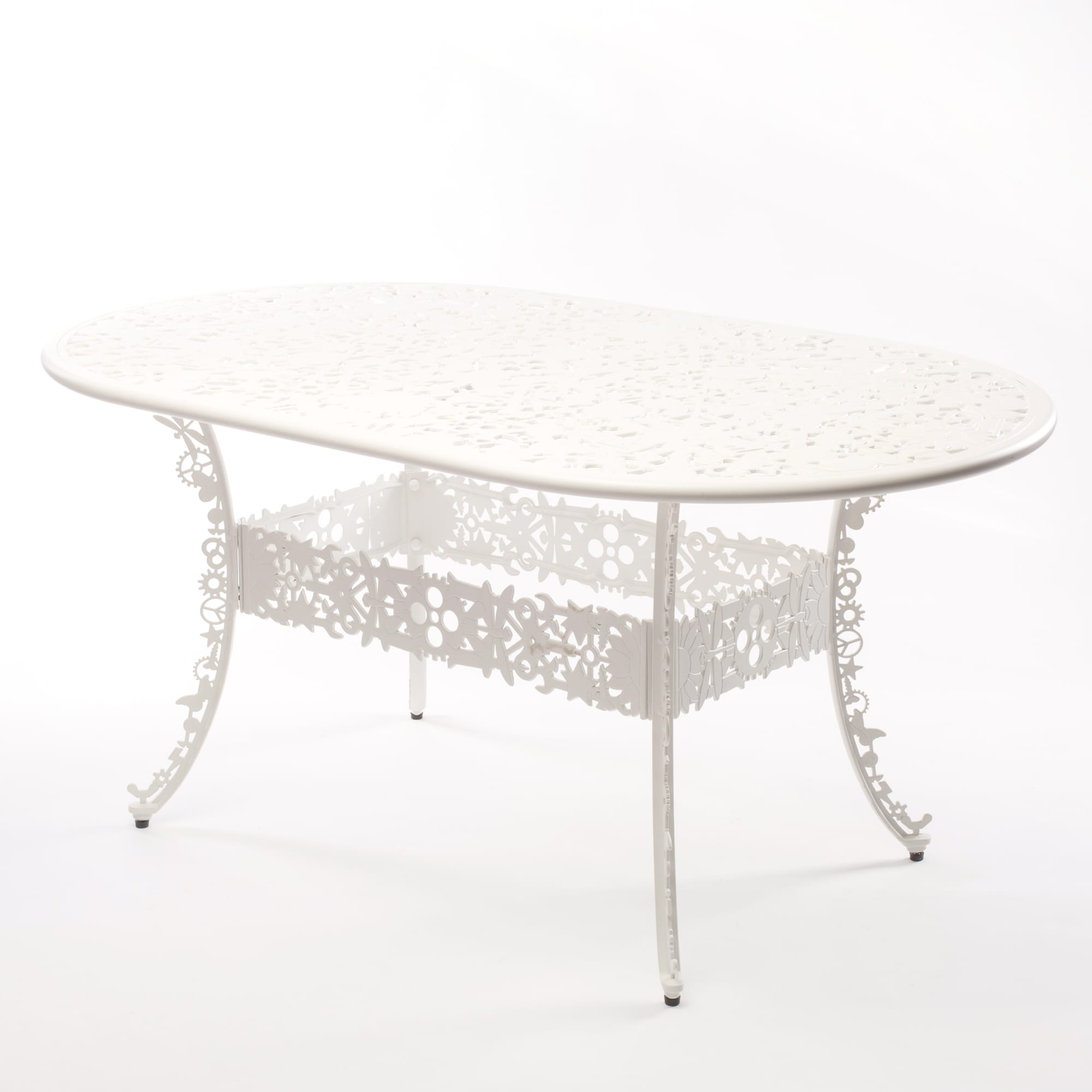 Oval Table Seletti Industry Collection White Racurs