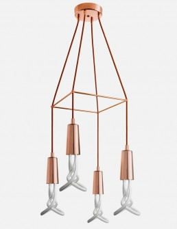 Plumen Chandelier Copper