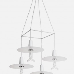 Plumen Chandelier White Lamp Shades