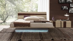 Presotto Tango Wood Bed with Light