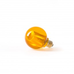 Round Light Bulb Seletti Crystaled Amber