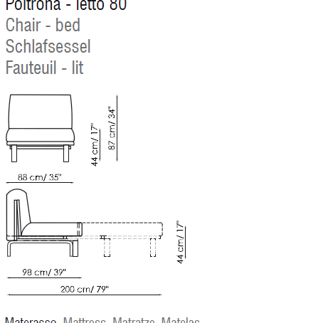 Scheda Chair Bed Poster