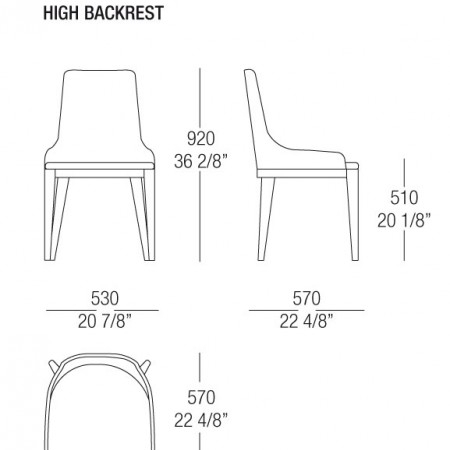 Scheda Cleo chair high