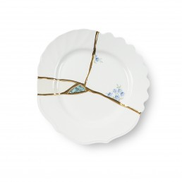 Seletti Art de la table Marcantonio Kintsugi Blue