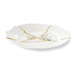 Seletti Art de la table Marcantonio Kintsugi Large Green Racurs