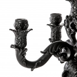 Seletti Candle Holder Chimp Black Detail