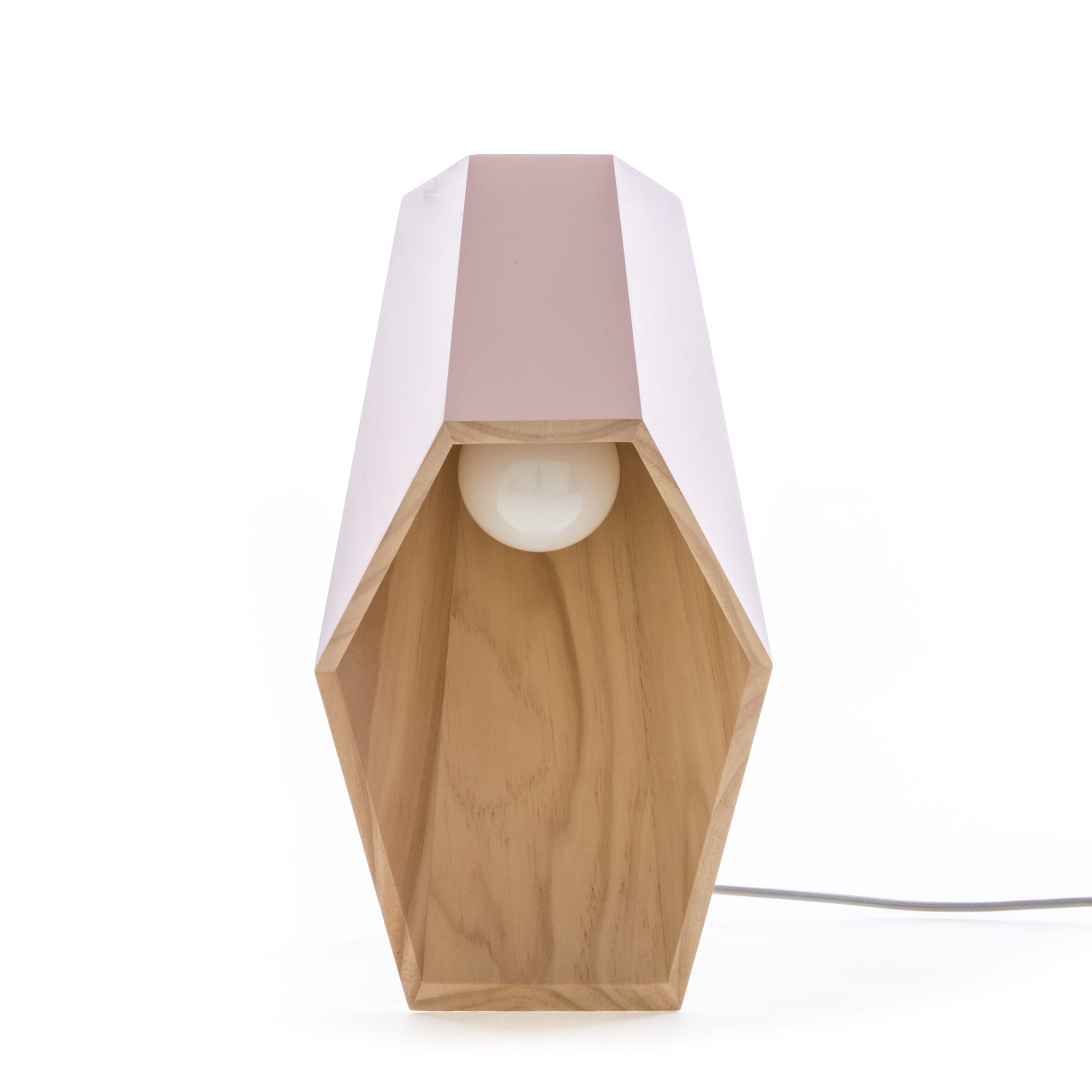 Seletti Lighting Woodspot Table Lamp Pink Racurs