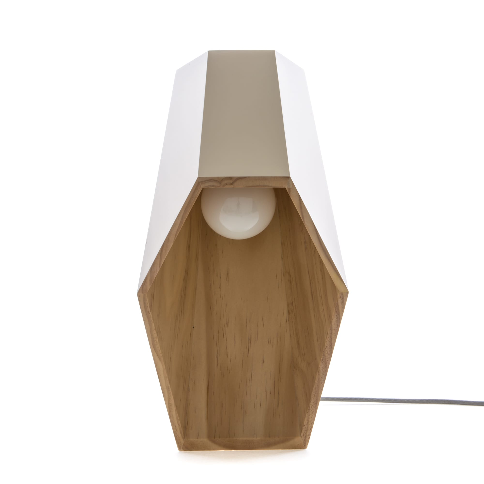 Seletti Lighting Woodspot Table Lamp White Racurs