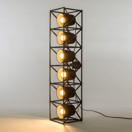 Seletti Line Lamp Multilamp Black Interior