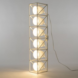 Seletti Line Lamp Multilamp White Interior