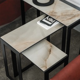 Small Table Cattelan Italia Kitano Alabastro Top