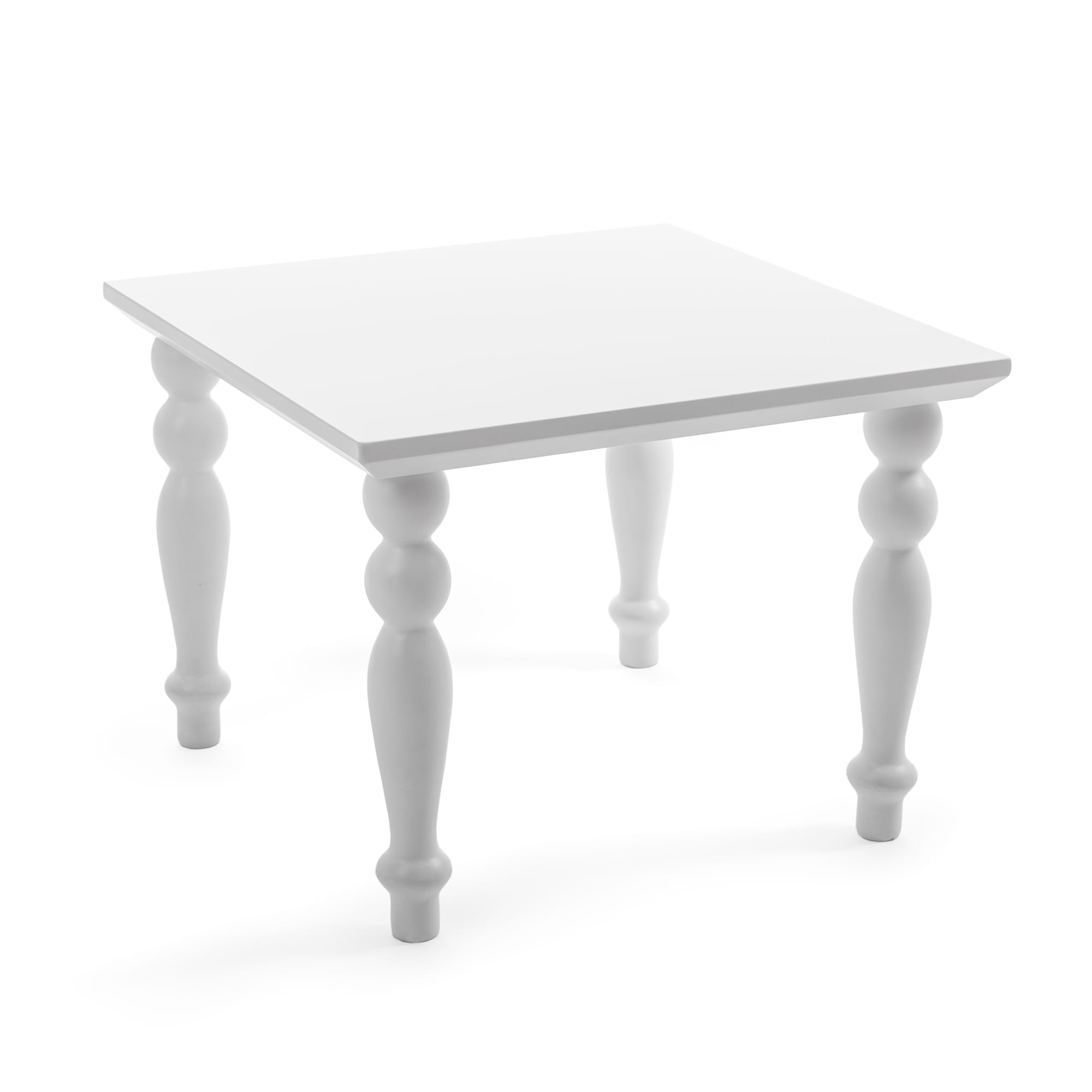 Small Table Square Seletti Heritage White Racurs
