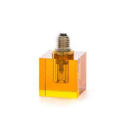 Square Light Bulb Seletti Crystaled Amber
