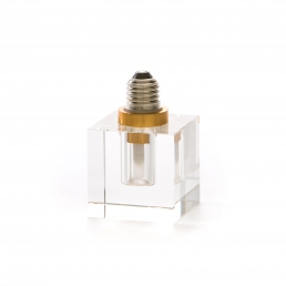 Square Light Bulb Seletti Crystaled Transparent
