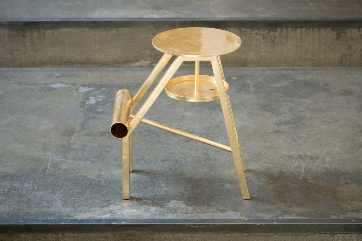 Stool Opinion Ciatti Shoe Gold Leaf