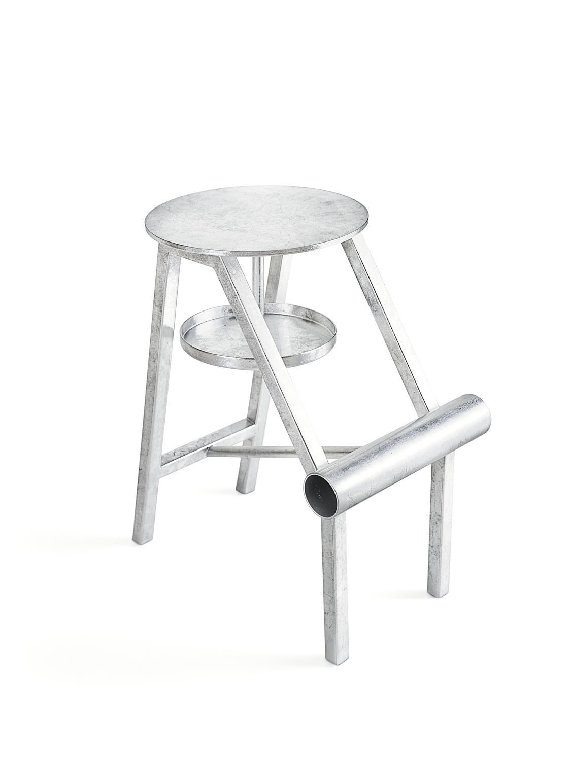 Stool Opinion Ciatti Shoe Silver Leaf