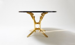 Table Opinion Ciatti FeFe Gold 24K and Black Marble