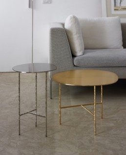 Table Opinion Ciatti XXX Modern Collection Chrome and Gold