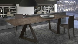 Table Zaffiro Laminam Marrone