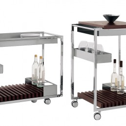 Trolley Bar cattelan Italia Mojito White