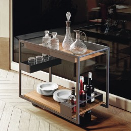 Trolley Bar cattelan Italia Mojito Wood Interior