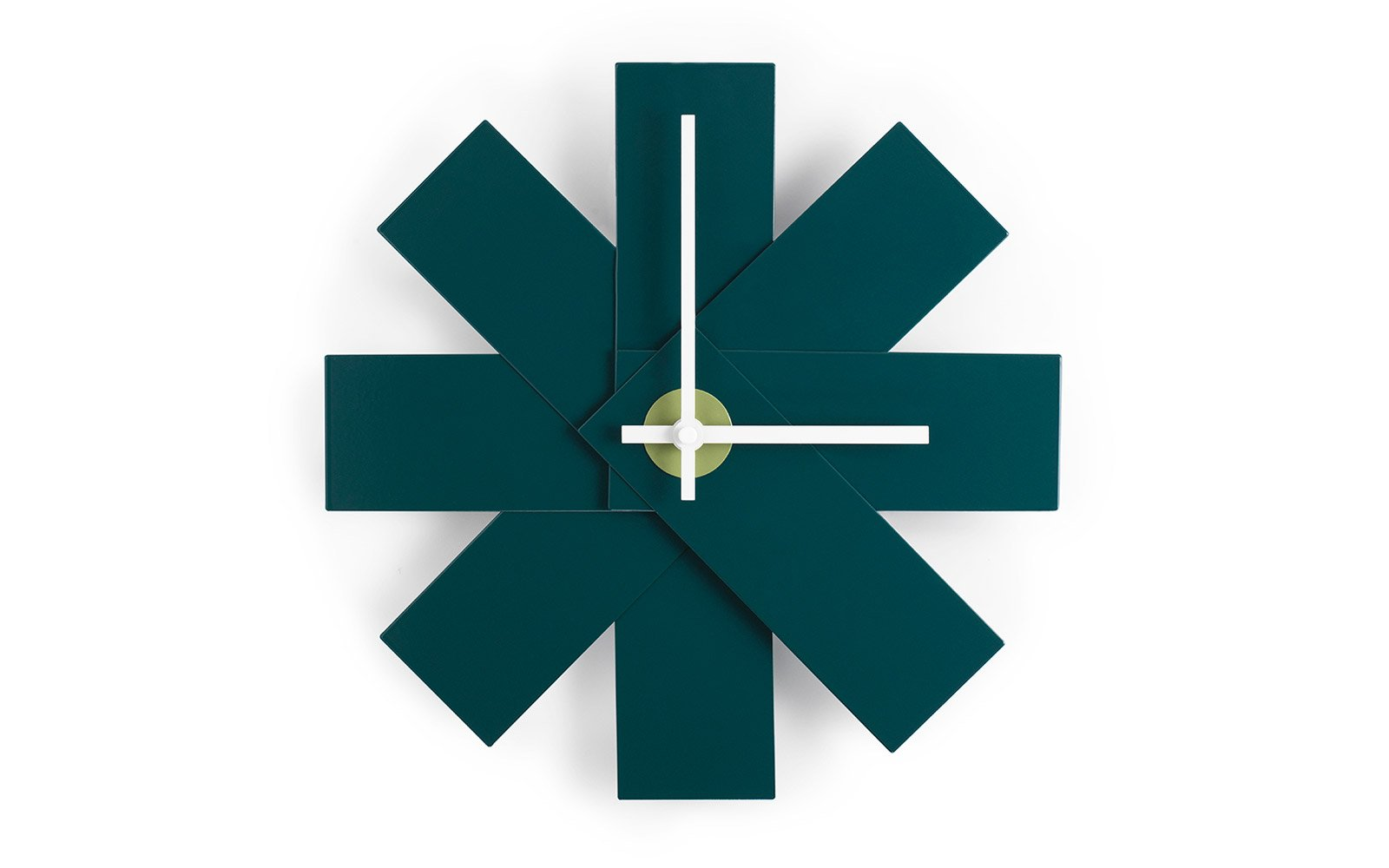 Watch Me Wall Clock Petrol Green