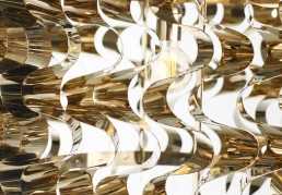 Waves lamp Opinion Ciatti Gold Detail