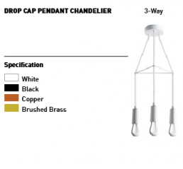 Way Drop Cap Pendant Plumen