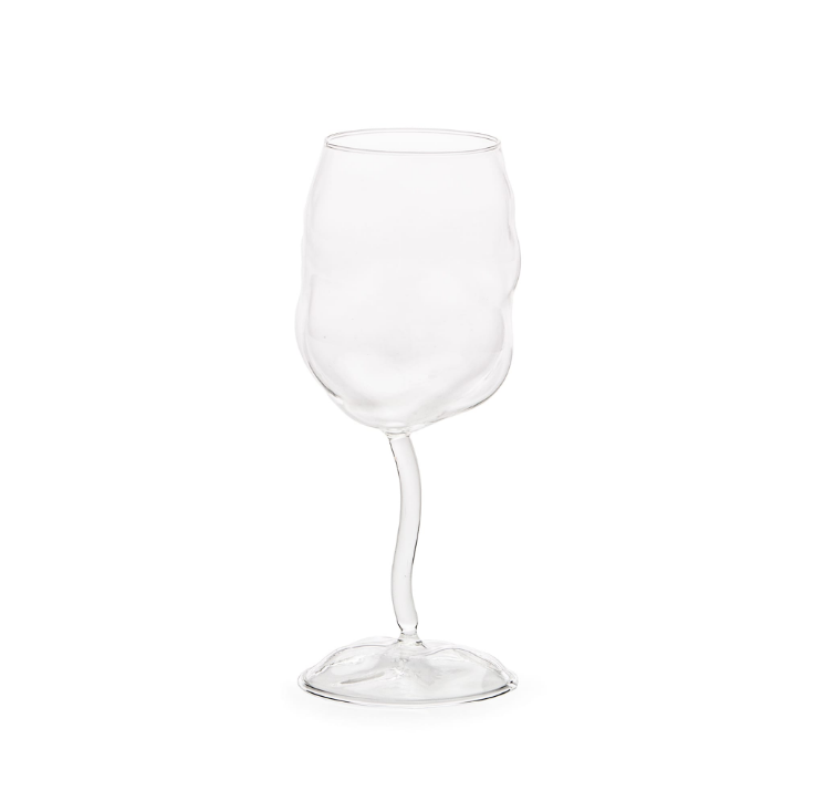 Wine Glass Set of Four Seletti Glass from Sonny Small