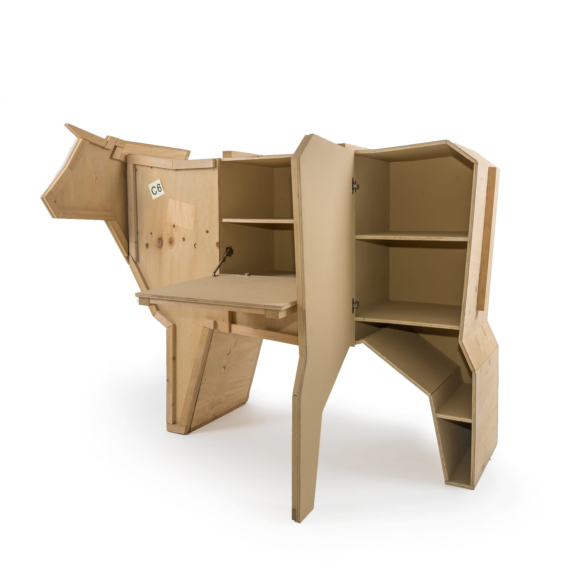 Wooden Furniture Seletti Sending Cow Open Racurs
