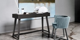 Writing Desk Gray Gervasoni Black