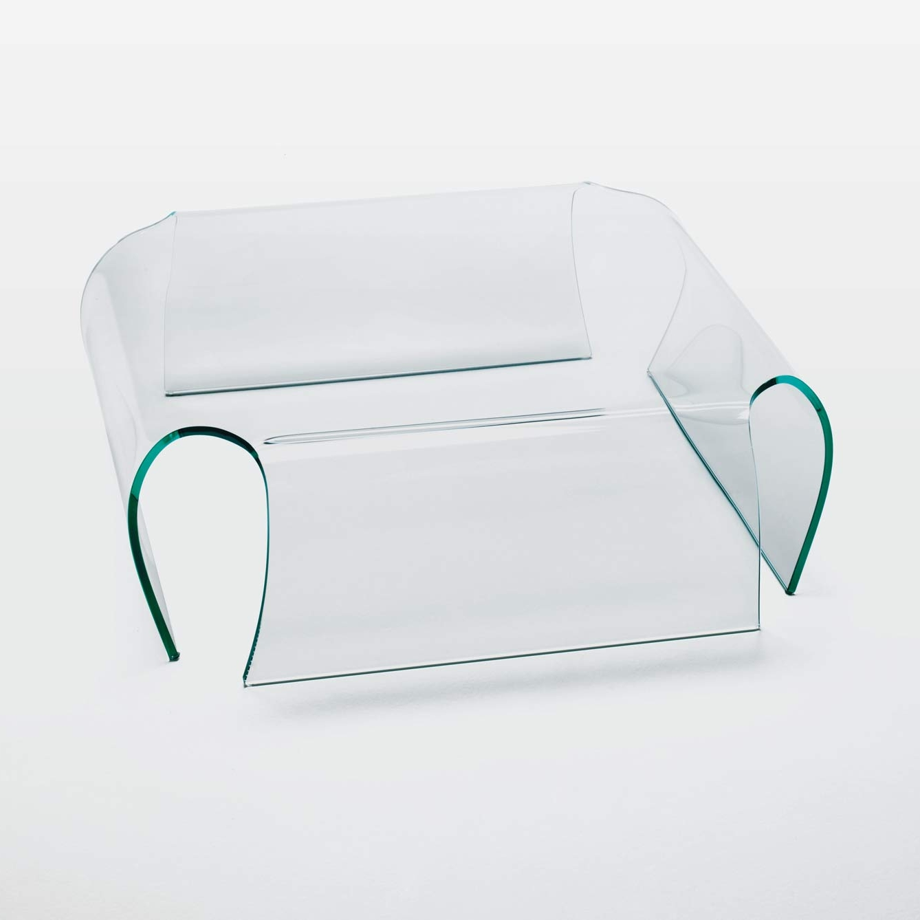 bent glass table